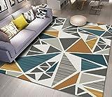 Home mall- Tapis carré moderne | Tapis motifs géométriques à poils courts antidérapant lavable pour chambre de séjour 8mm (Couleur : Color#2, taille : 140X200cm)