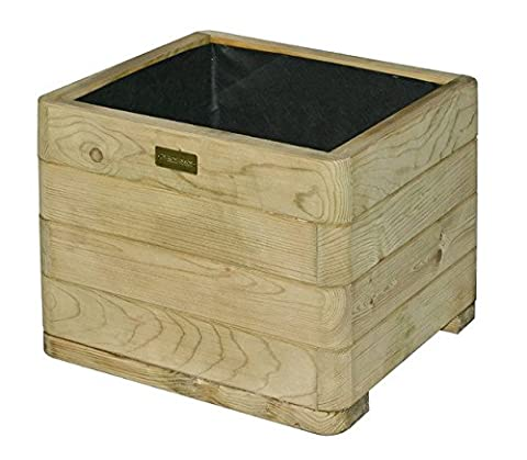 Solid Timber Square Planter - Lends A Lovely, Rustic Feel to your Garden with its Natural Timber Finish and Traditional