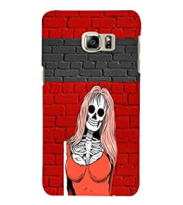 PRINTVISA Abstract Girl Skull Case Cover for SAMSUNG GALAXY NOTE 6