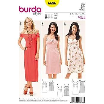Burda b6627 Schnittmuster Kleid Papier weiß 19 x 13 x 1 cm