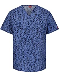 Dickies Fashion Prints Unisex V-Ausschnitt abstrakten Print Scrub Top