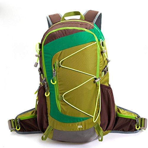 Ultra Leichte Reißen Und Wasserabweisende Nylon Handy Rucksack Tasche Wandern Dayback Bag,Green Green