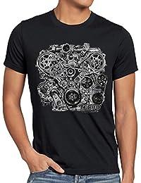 style3 Turbo Vintage T-Shirt Homme moteur Biker action voiture mustang