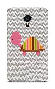 Amez designer printed 3d premium high quality back case cover for Meizu MX5 (Diy cute pink tortoise pattern chevron)