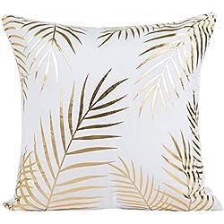 DEELIN Home Party Coffee Club Decor Fashion Gold Foil Printing Square Pillow Case Waist Throw Cushion Cover