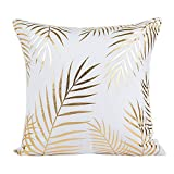 DEELIN Home Party Coffee Club Decor Fashion Gold Foil Printing Square Pillow Case...
