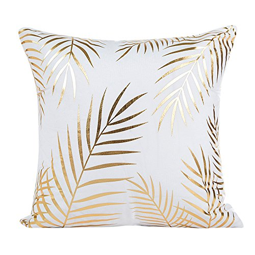 DEELIN Home Party Coffee Club Decor Fashion Gold Foil Printing Square Pillow Case Waist Throw Cushion Co