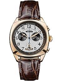 Vivienne Westwood Mens Analogue Classic Quartz Watch with Leather Strap VV176WHBR