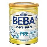 Nestlé Beba OptiPro Pre Anfangsmilch, Baby-Milch mit guter Verträglichkeit, Milchpulver, für Säuglinge, ab Geburt, 1er Pack (1 x 800 g)