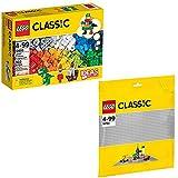 Lego Classic 2er Set 10693 10701 Baustein-Ergänzungsset + Graue Grundplatte