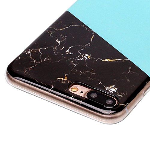 iPhone 7 Plus Case, iPhone 8 Plus Hülle Silikon, Moon mood® TPU Silikon Handyhülle Schutzhülle Case für Apple iPhone 8 Plus / 7 Plus 5.5 Zoll Thin Dünn Weich TPU Schutz Etui Cover, Flexibel Silikon Ca 2 PCS