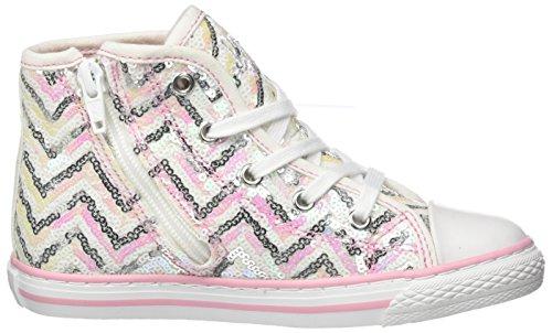 Primigi Pgc 7316, Sneakers Hautes Fille Argent (Argento-rosa)