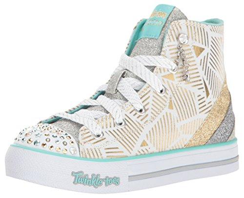 Skechers Shuffles Doily Dance Toile Baskets blanc/doré