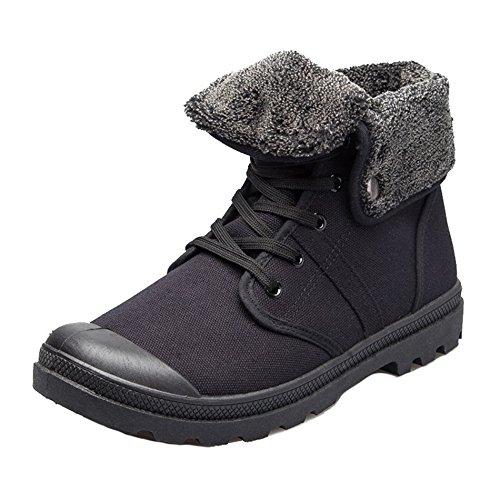 AgeeMi Shoes Hombre Zapatillas de Lona Hombre Casuales Zapatos Unisex Adulto,EuN09 Negro 44