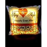 Craft N Creation Personalised Digital Printed LED Cushions, (battery Included) Size 15x15 Inch Perfect Gift For Mother's Day, Gift For Mom, Gift For Him, Gift For Her, Gift For Boyfriend, Gift For Girlfriend, Gift For Husband, Gift For Wife, Anniversary/B
