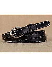 fdb20adc74 YISANLING-YD Cinturón de Cuero Mujer Moda Piel de Vaca Hebilla Jeans  Estrechos con decoración