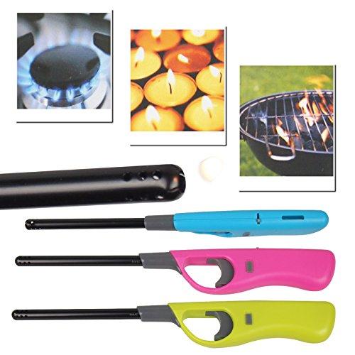 Gas-grills Öfen (3 Stück XXL Stabfeuerzeug 27cm nachfüllbar wiederverwendbar Ofen Grill Kerzen)