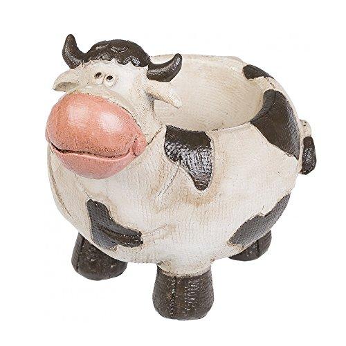 A.G.S. Gartenfigur Pflanztopf Kuh Blumentopf Dekofigur Garten Cow Dekoration