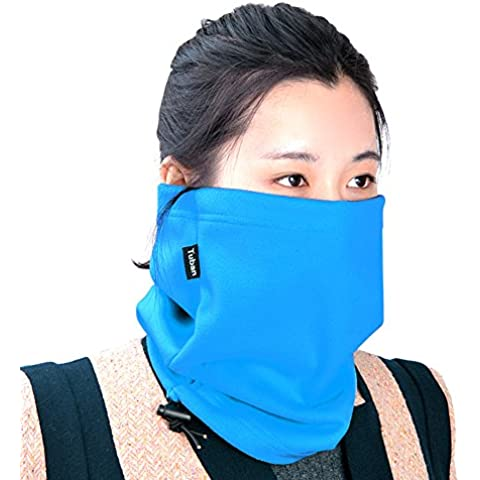Unisex Multifunctional Winter Fleece Scarf Neck Warmer Face Mask Hat Perfect for all outdoor pursuits DSRAY