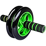 Aurion Black/Blue Total Body Ab Exerciser Double Wheel Unisex Ab Abdominal Roller