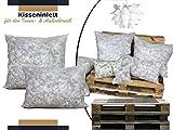 npluseins Kisseninlett mit Schaumstoffflocken - Bezug aus Polypropylen-Vlies - in 12 verschiedenen Größen - schadstoffgeprüft nach Öko-Tex Standard 100, 30 x 30 cm