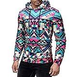 Qiusa Mens Oversezed Pink Hoodie Kapuzenpulli 3D Goth Longline Asymetrische Pullover Pullover Top Sweatshirt Größe XXL XXXL (Farbe : Rot, Größe : M UK 8-10)