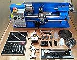 "CJ18A Mini Lathe Package 3 - Brand New 7x14 Machine with DRO & 4"" Chuck"