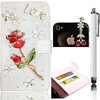 Sunroyal® Strass Rhinestone Custodia per LG G2 D802 smartphone in