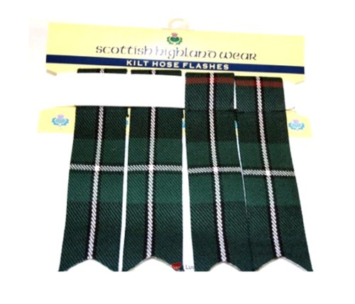 Pure Wool Scottish Highland Tartan Kilt Flashes MacKenzie Modern
