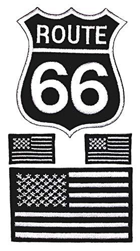 i-Patch - Patches - 0091 - Totenkopf - Schwarz - Live Free - USA - Route 66 - Flicken - Aufnäher - Sticker - Badges - Bügelbild - Aufbügler - Iron-on - Applikation - zum aufbügeln - Skelett (Shirt Skelett Erwachsenen)