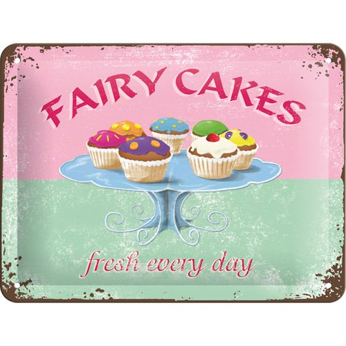 FAIRY CAKES - fresh every day Blechschild 30 x 40 cm Art: 20388