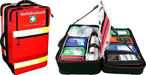 """Notfallrucksack""""Premium-X1"""" Arztpraxis mit 2 Liter Sauerstoffflasche und regelbarem Druckminderer sowie Checkliste"""