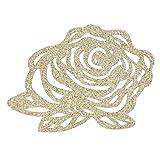 Hongma Patch su Ferro Applique Patch Toppe Termoadesive Glitter Rose Fiore per Maglietta Jeans Abbigliamento Borse