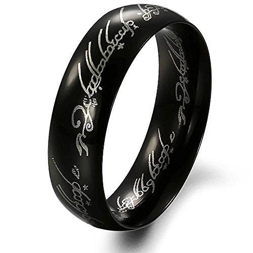 Stayoung Jewellery Moda Retro Hombre Acero Inoxidable Biblia Versos tallada Orar Band Ring, 2colores, 5opciones de tamaño 1