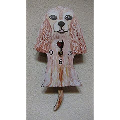 Wagging Tail Dog Wall Clock for Dog Lover Cocker Spaniel by Passion for (Cocker Spaniel Tail)