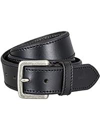 Pierre Cardin Mens leather belt / Mens belt, full grain leather, black