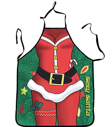 Tablier de Noël, Noël sexy Tablier, tablier de cadeau de Noël, Père Noël Tablier, tablier de cuisine chiffons de Noël, Noël, Noël, Bakerware #09