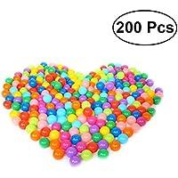 TOYMYTOY 200 unids pelotas de plástico Ball Pit Crush prueba Ocean Ball Toy con bolsa de almacenamiento de malla para niños