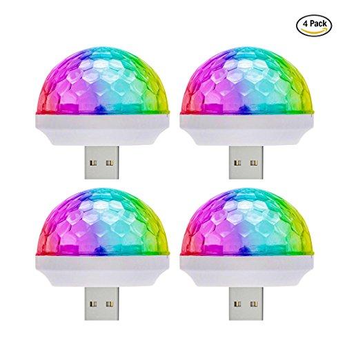 Licht Stroboskop Mini (Mini USB Disco Licht Tragbare Home Party Stroboskop Led Disco glühbirne für karaoke xmas)