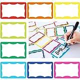 240 Stücke bunte Namen Etiketten Sticker Aufkleber Selbstklebende Namensschild Etiketten für Büro Schule Zuhause Meeting, 8 Farben