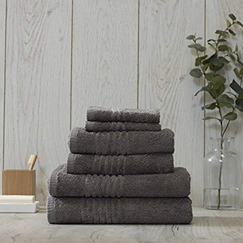 MBS Bale-set-800gsm-Hotel-Qualität-Egyt-Cotton-Tücher, superweich, Dickes Ball-Set, Geschenk, grau, 4 (Face, Hand, Bath, Bath Sheets) (Hotel Bath Sheet)