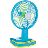 MICMAC- 5880 Powerful Rechargeable Table Fan with 21SMD LED Light, table fan for home,table fan with light,table fan rechargeable, Assorted