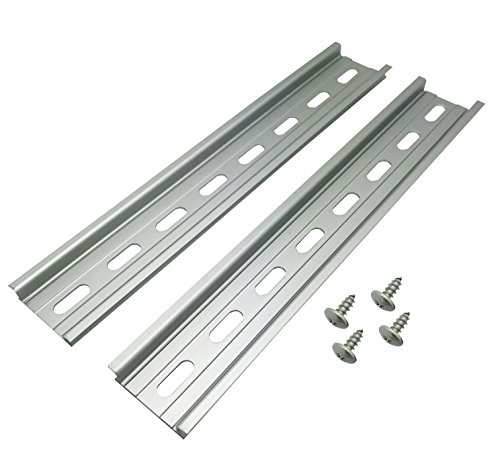 Electrodepot Aluminium-DIN-Schiene, 35 x 20,3 cm, silberfarben, silber Interconnect Kit