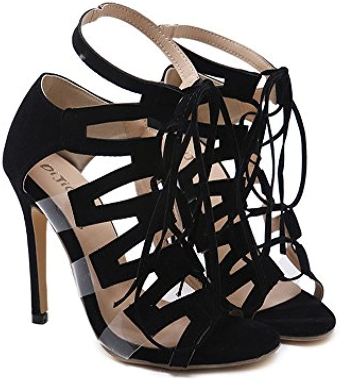 1ce413eb4 Lady stiletto High High High Heel Prom Sandals Ankle Strap peep toe High  Heel Sandals (