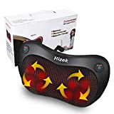 Neck and Back Massager,Hizek Shiatsu Massage Pillow with 8 Rollers and Heat Function
