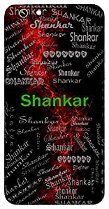 Shankar (Lord Shiva, Auspicious) Name & Sign Printed All over customize & Personalized!! Protective back cover for your Smart Phone : Apple iPhone 5/5S