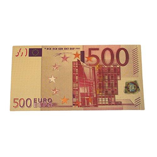 Rosepoem 500 Euro Pfund Antiquität Vergoldetes Gold Falschgeld Geschenke Dekoration