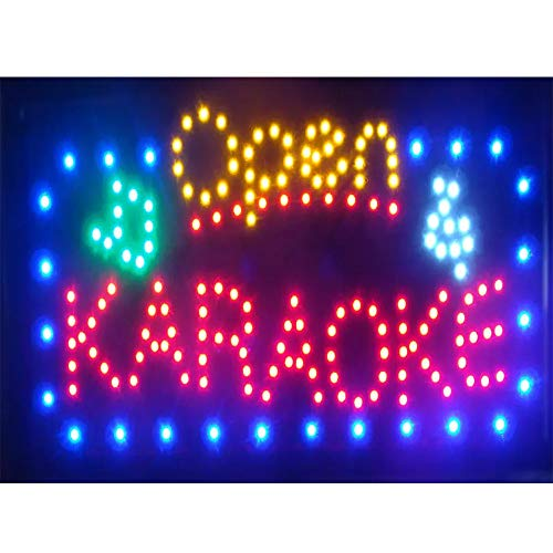 CHENXI groß schild Open LED Karaoke/Musik Shop OPEN Signage Hot Sale Running LED Neon Light, 39,4 x 69,8 cm (40 x 70 cm) of Business Store Neon offen Schilder Modern 70 X 40 CM Karaoke Open - Karaoke-banner