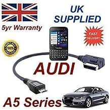 AUDI A5 Serie 2008+ AMI MMI Cable para Blackberry Q5 4F0051510M MICRO USB Cable