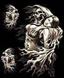 3 Stickers Skull Tête de Mort Faucheuse Lady